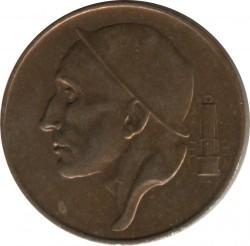 "Minca > 50centimes, 1952-1955 - Belgicko  (Názov vo francúzštine - ""BELGIQUE"") - obverse"
