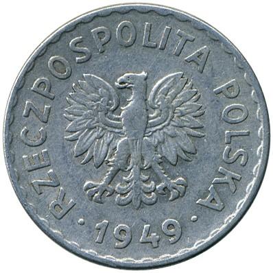 1 Złoty 1949 Polen Münzen Wert Ucoinnet