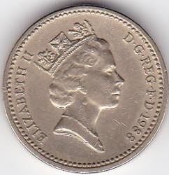 Mynt > 1pund, 1988 - Storbritannia  - obverse