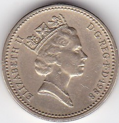 Moneta > 1svaras, 1988 - Jungtinė Karalystė  - obverse