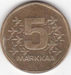 Монета > 5марок, 1972-1978 - Финляндия  - reverse