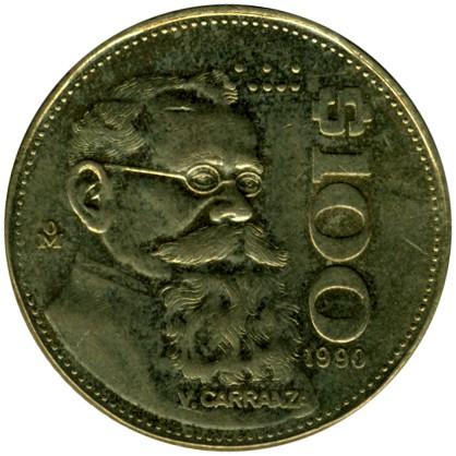 100 Pesos 1984 1992 Mexico Coin Value Ucoin Net