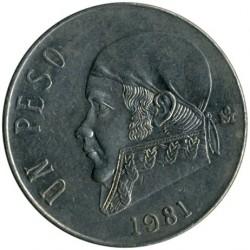 Munt > 1peso, 1970-1983 - Mexico  - reverse