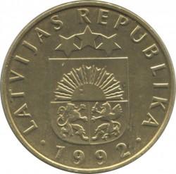 Monedă > 20santimi, 1992-2009 - Letonia  - obverse