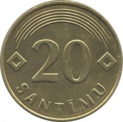 Monedă > 20santimi, 1992-2009 - Letonia  - reverse