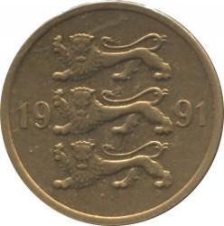 Minca > 5senti, 1991-1995 - Estónsko  - obverse