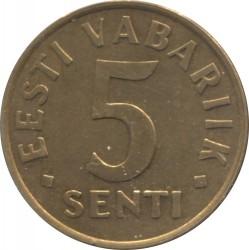 Minca > 5senti, 1991-1995 - Estónsko  - reverse