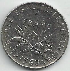 Coin > 1franc, 1960 - France  - reverse