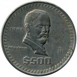 Coin > 500pesos, 1987 - Mexico  - reverse