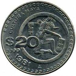 Coin > 20pesos, 1981 - Mexico  - reverse