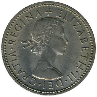 1 Schilling 1954 1970 Englisches Wappen Drei Löwen Vereinigtes