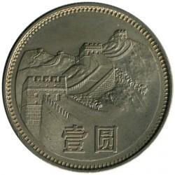 Moneta > 1juanis, 1980-1986 - Kinija  - reverse