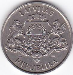 Moneta > 2lati, 1993 - Lettonia  (75° anniversario - Repubblica di Lettonia) - obverse