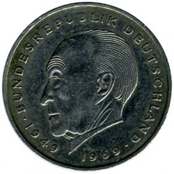 Coin > 2 mark, 1976 - Germany  (Konrad Adenauer. 20th Anniversary - Federal Republic (1949 - 1969)) - obverse