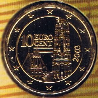 10 Cent 2003 österreich Münzen Wert Ucoinnet