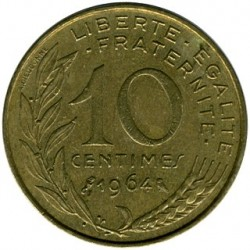 Coin > 10centimes, 1964 - France  - obverse