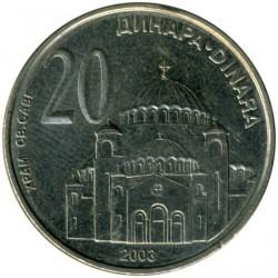 العملة > 20دينارا, 2003 - صربيا  - reverse
