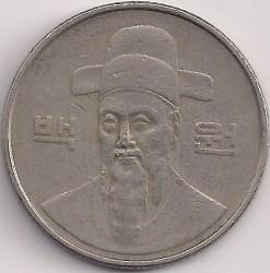 Moneta > 100vonų, 1986 - Pietų Korėja  - obverse