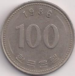 Moneta > 100vonų, 1986 - Pietų Korėja  - reverse