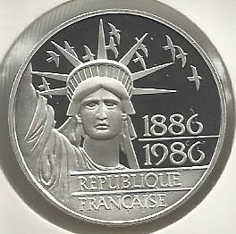 100 Francs 1986 Statue De La Liberte France Valeur Piece