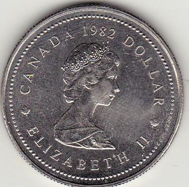 1 Dollar 1982 Gründungsgesetz Kanada Münzen Wert Ucoinnet