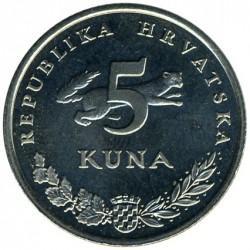 Münze > 5Kuna, 1993-2017 - Kroatien   - obverse