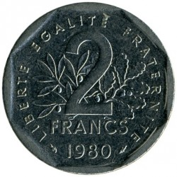 მონეტა > 2ფრანკი, 1978-2001 - საფრანგეთი  - obverse