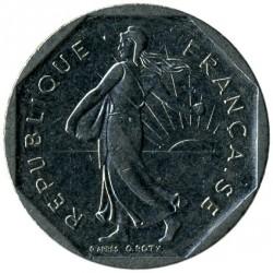Moneda > 2francs, 1978-2001 - França  - obverse