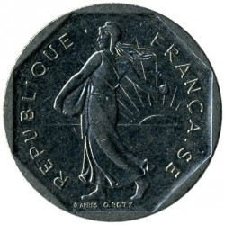 Coin > 2 francs, 1978-2001 - France  - reverse