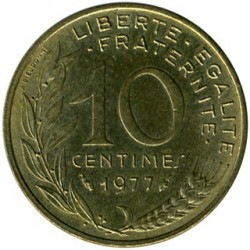 Coin > 10 centimes, 1977 - France  - obverse