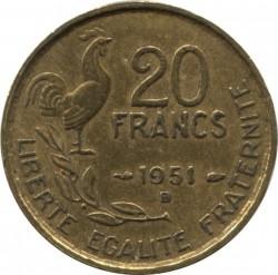 Монета > 20франка, 1950-1954 - Франция  - reverse