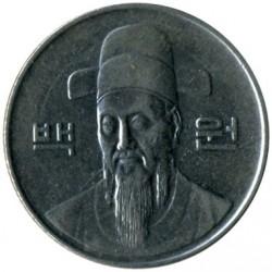 Mynt > 100won, 1983-2017 - Sydkorea  - obverse