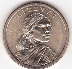 Münze > 1 Dollar, 2012 - USA  (Native American - Trade Routes in the 17th Century) - obverse