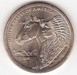 Münze > 1 Dollar, 2012 - USA  (Native American - Trade Routes in the 17th Century) - reverse