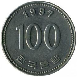 Coin > 100won, 1997 - South Korea  - reverse