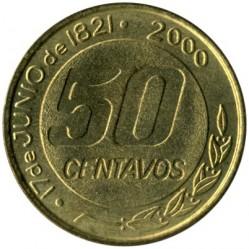 Moneda > 50centavos, 2000 - Argentina  (180º Aniversario - Muerte de Martín Miguel de Güemes) - reverse
