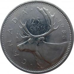 Moneta > 25centesimi, 1979-1989 - Canada  - reverse