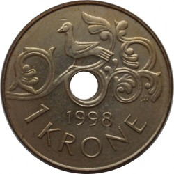 1 Krone 1998 Norwegen Münzen Wert Ucoinnet