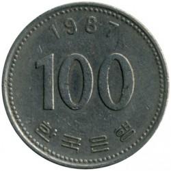 Moneta > 100vonų, 1987 - Pietų Korėja  - reverse