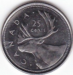 Coin > 25 cents (quarter), 2002 - Canada  (50th Anniversary - Succession of Queen Elizabeth II) - reverse