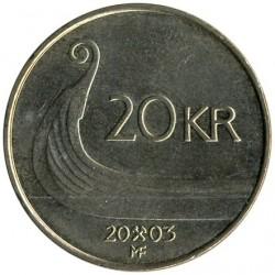 Moneda > 20kroner, 1994-2010 - Noruega  - reverse