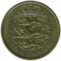Монета > 10крон, 2004-2010 - Данія  - reverse