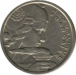 Coin > 100 francs, 1955 - France  - obverse