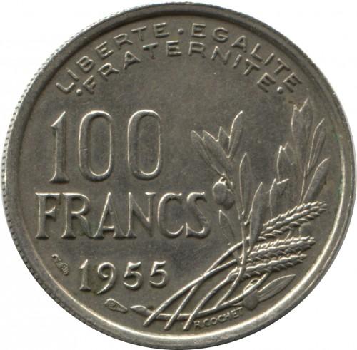 100 Franken 1954 1958 Frankreich Münzen Wert Ucoinnet