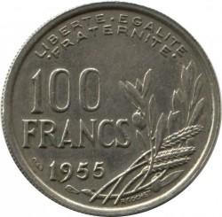 Monēta > 100franku, 1954-1958 - Francija  - reverse