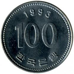 Moneta > 100vonų, 1993 - Pietų Korėja  - reverse
