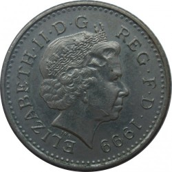 Moneta > 5pensai, 1998-2008 - Jungtinė Karalystė  - obverse