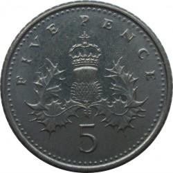 Moneta > 5pensai, 1998-2008 - Jungtinė Karalystė  - reverse