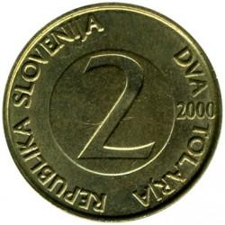 Moneda > 2tolarja, 1992-2006 - Eslovènia  - obverse