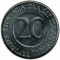 Moneda > 20tolarjev, 2005 - Eslovènia  - obverse